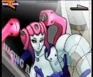 Robot girl with Pink Hair. - 1 min 43 sec