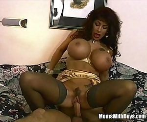 Brunette MILF With Gigantically Gifted Boobs FuckedHD