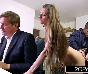 Sneaky Skinny Bastard Fucks Bosss Wife and DaughterTarra White, Leyla MorganHD