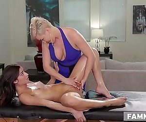 Open Minded Step Daughter Gets a MassageRyan Keely and Emily Willis 6 min HD+