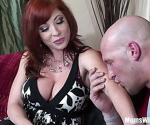 Redhead Mom Brittany OConnell Pierced Pussy In Sexy Stockings FuckedHD